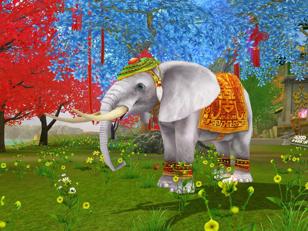 """在《慈恩天下》的众多天园中,有许多吉祥瑞兽,以塑像、雕文、动物或是祥瑞降临的方式出现,其中,大象所蕴含的意义是""""吉祥"""",能带来吸引好运的力量。   大象憨态可掬,诚实忠厚,庄严仁慈,在泰国和印度,大象被称为""""象神"""",在中国国传统文化里,「象」为北斗七星之中「摇光之星」化身,是祥瑞之兆。而""""象""""与&ldq"""